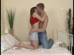Amateur couple Hairy Muff Ramming