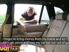 Female Fake Taxi Creampie internal payment for sexy blonde