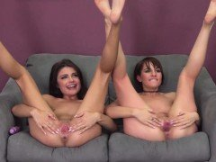 Adria and Allora Cannot Wait to Tease Each Other To Orgasm