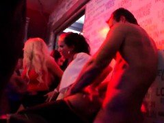 Slutty girls get absolutely wild and naked at hardcore party