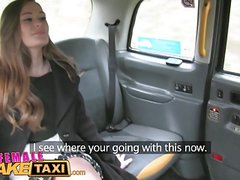 Female Fake Taxi Redheads tongue makes pretty posh pussy cum
