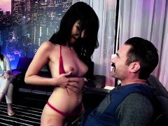 Asian Babe Marica Hase Blows Her Hung Visitor