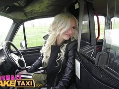 Female Fake Taxi Busty beautiful blonde fucks her lucky guy