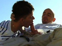Outdoor gay sex adventure of a hot young seducer