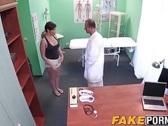 Big tits and big ass Yasmin getting doggystyle from doctor