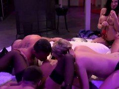 Swingers enjoy banging in hot orgy in reality show