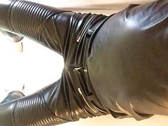 The tight feeling of my new leather pants II