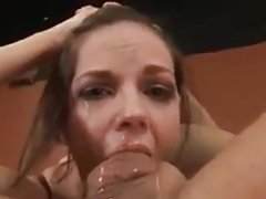 Oiled Krissy Lynn gets her hot pussy