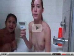 Brooke and Kat in Bubblebath