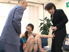 Ayumu Sena is knows as the little office slut. This tiny