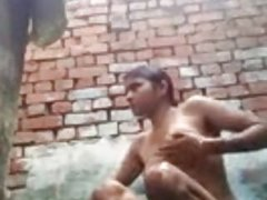 Indian muslim bathing