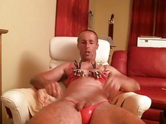olibrius71 slap face, clamps nipples, prolapse