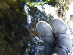 Wet Jumes boots river