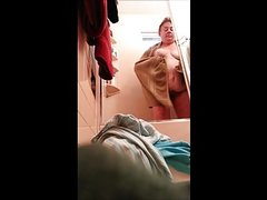 2nd video of friends mother getting in and out of the shower