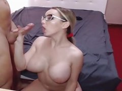 Hot Blonde Babe with Big Tits Pounded in Pussy by Big Cock
