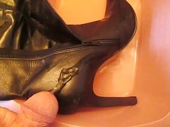 Pissing cummed Booties fm MrMessyshoes