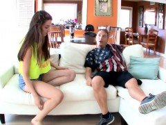 Elektra Rose blowjob her step dads cock