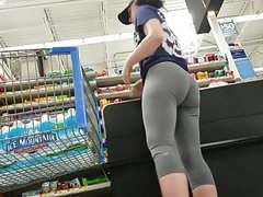 Brunette Sex .Booty Grey Leggings