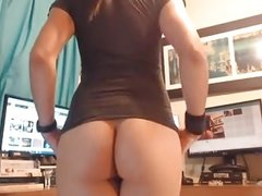 Slim skinny tranny TS sexy ass small tits cock and balls