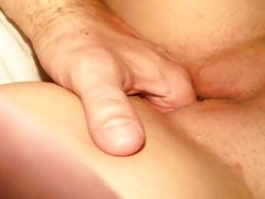 Wifes wet shaved pussy fingered deep