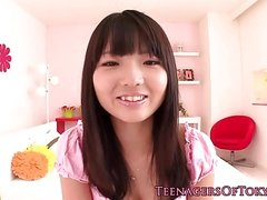 Nippon teen facialized after giving handjob