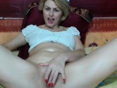 Carol Goldnerova busty blonde solo masturbating