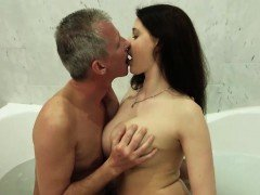 My step sister with big tits fucks kinky grand dad