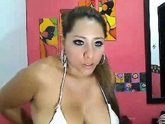 A hot naughty & busty aunty again on webcam.