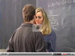 Blonde student had a hard time in class -