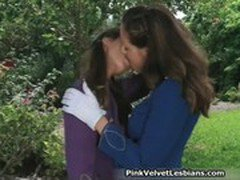 Two sexy brunette lesbian babes having
