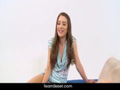 ThisGirlSucks Zarena Summers shy brunette teen blowjob handjob footjob cock