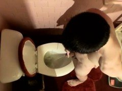 Gay twink bulge Unloading In The Toilet Bowl