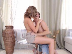 Naked legal age teenager in the erotic scene