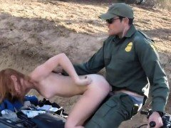 Fake cop cum in first time Border Hopping Redhead Loves Cock