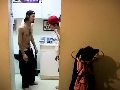Emo gay twink teen boys Ian & Dustin Desperate To Piss!