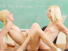 Sapphic schoolgirl les massages and licks