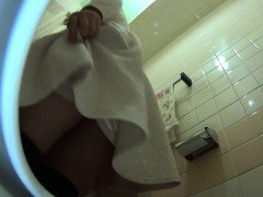 Asian pees on public wc