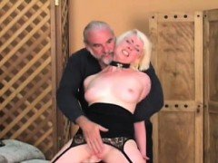 Hot scenes of coarse thraldom on busty babe's fur pie