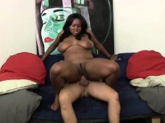 Black slut gets creampied by her boss
