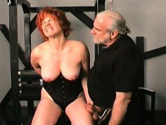 Neat dilettante women hard sex in bondage way-out show