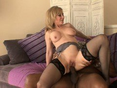 MILFGonzo Mature blonde beauty Nina Hartley stuffed by a BBC