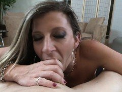 Mature slut titfucks and sucks dick in POV