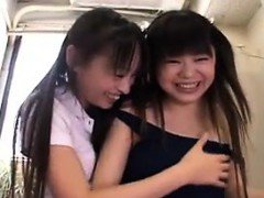 Hot amateur asian babes threesome HD video 2