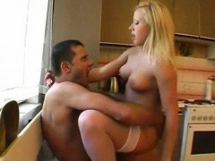 Blonde Dutch Babe Kitchen Fuck Rough Hard Sex