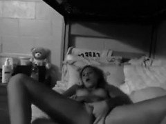 Teen amateur fingering herself in the storage room