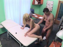 Fake Hospital Dirty doctor gives blonde Czech