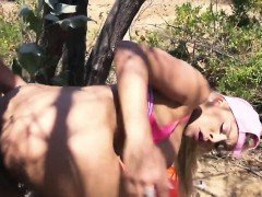 Luna Star goes on hiking trip and gets fucked hard in nature