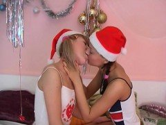 Fascinating teen lesbian babes are secretly doing things