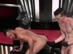 Sex gay old fisting xxx Aiden Woods is on his back and