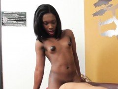 Ebony tgirl assfucking tranny ass in twosome